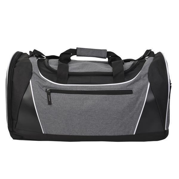 Heathered Textured Gray Gym Duffel Bag