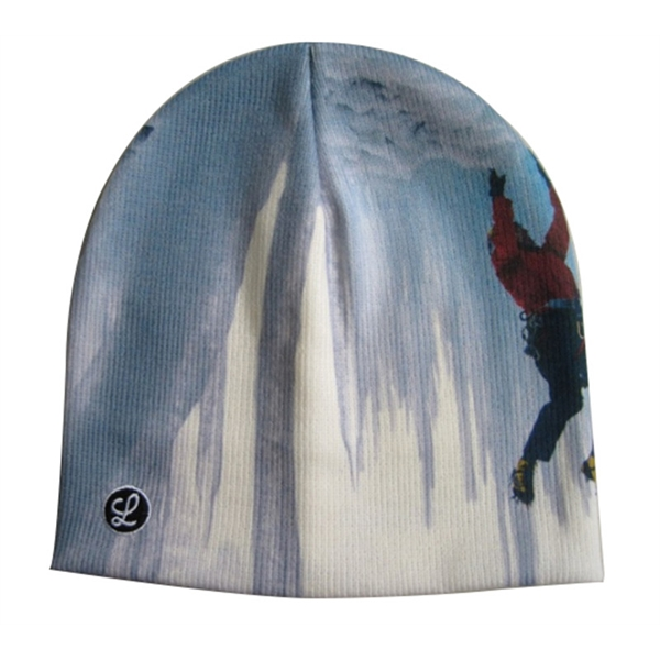 Acrylic Printed  Beanie Cap