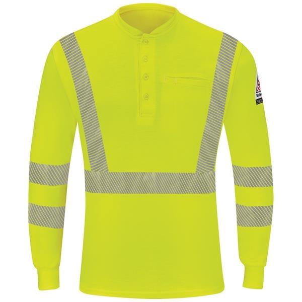 Bulwark® Men's Hi-Visibility Lightweight Henley Shirt