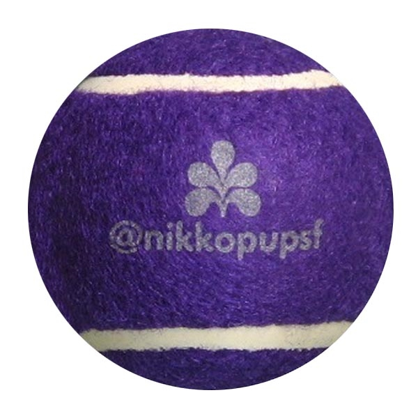 PET AND PROMOTIONAL PURPLE TENNIS BALL