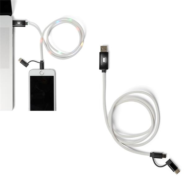 Light-Up-Your-Logo XL Charging Cable