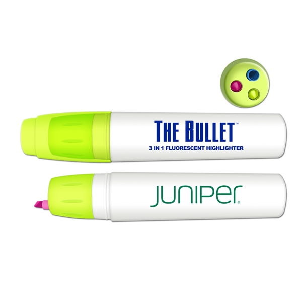 The Bullet 3 Color Retractable Fluorescent Highlight
