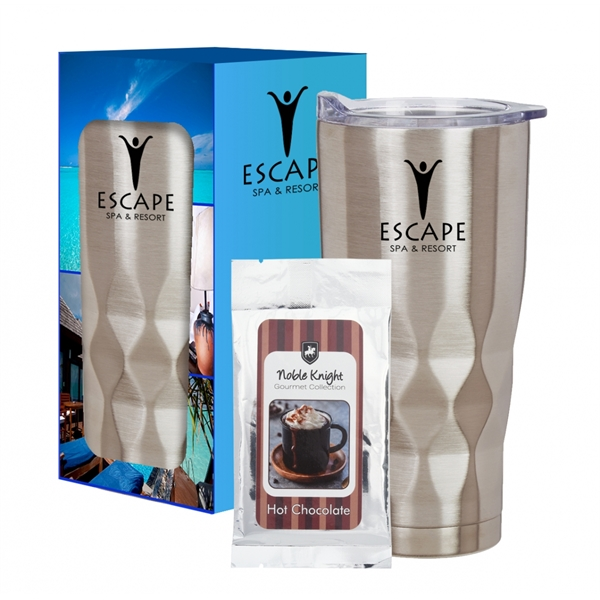 22 Oz. Vortex Stainless Steel Tumbler With Cocoa And Cust...