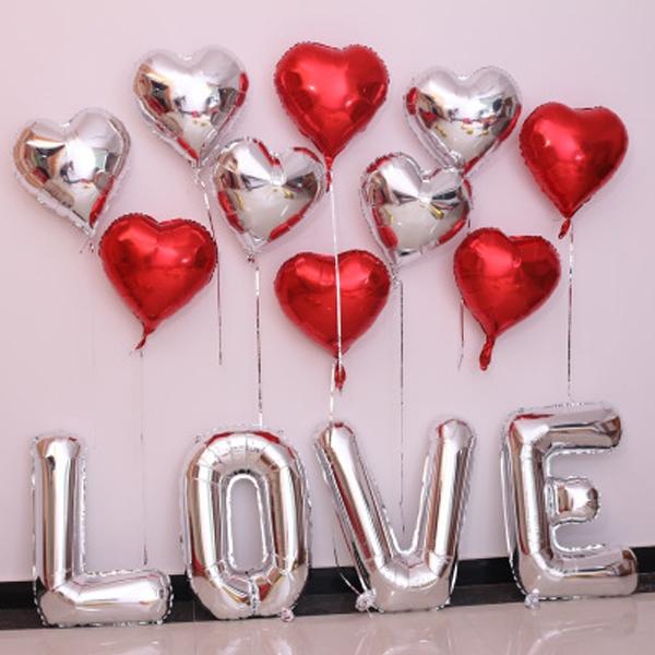 Heart Shape Mylar Balloon