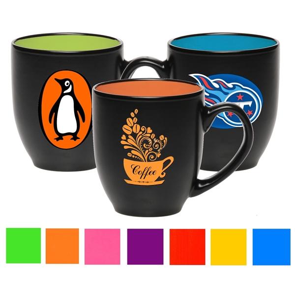 16 oz. Bistro Ceramic Mug - Two-Tone Custom Drinkware