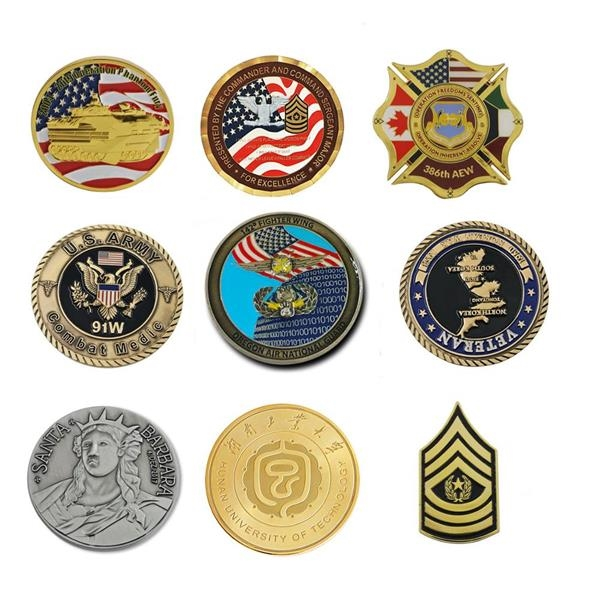Custom 3D Metal Souvenir Military Challenge Coin