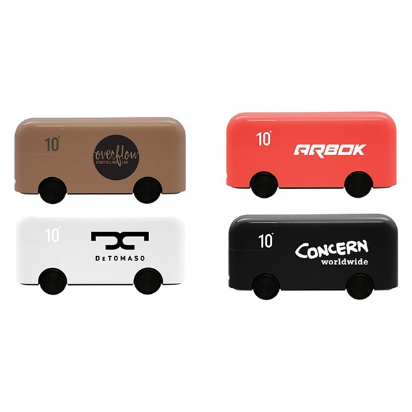 London Bus 10000mAh Power Bank with 4 Rolling Wheels
