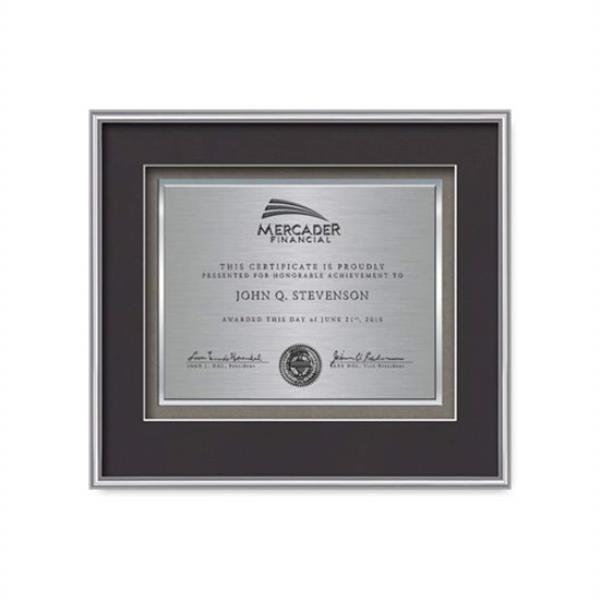 Fenestra Certificate TexEtch Horiz - Sil