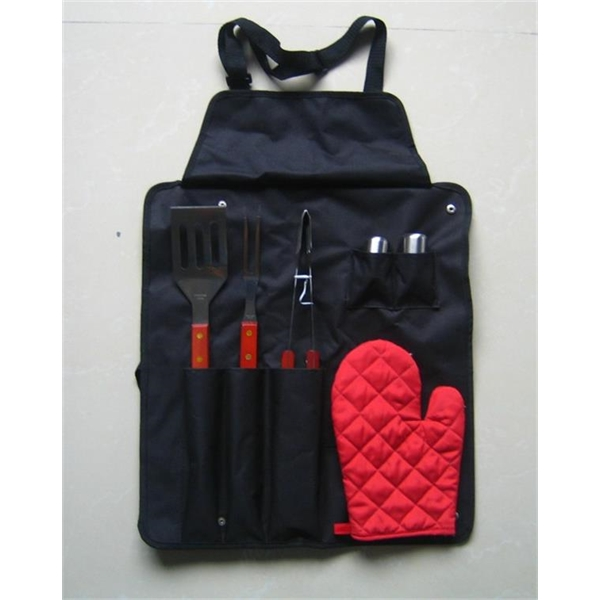 BBQ Now Apron and 6 piece BBQ Set