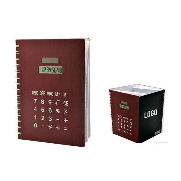 Creative PU Cover NoteBook With Solar Calculator