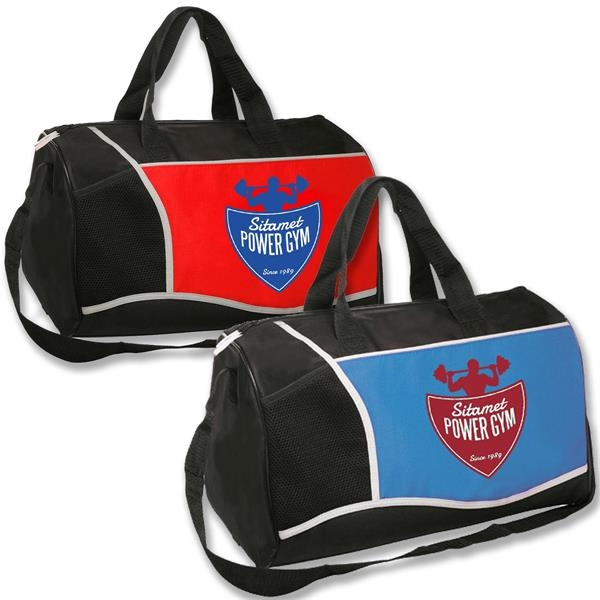 Promotional Large Duffel Bags w/ Front Pocket