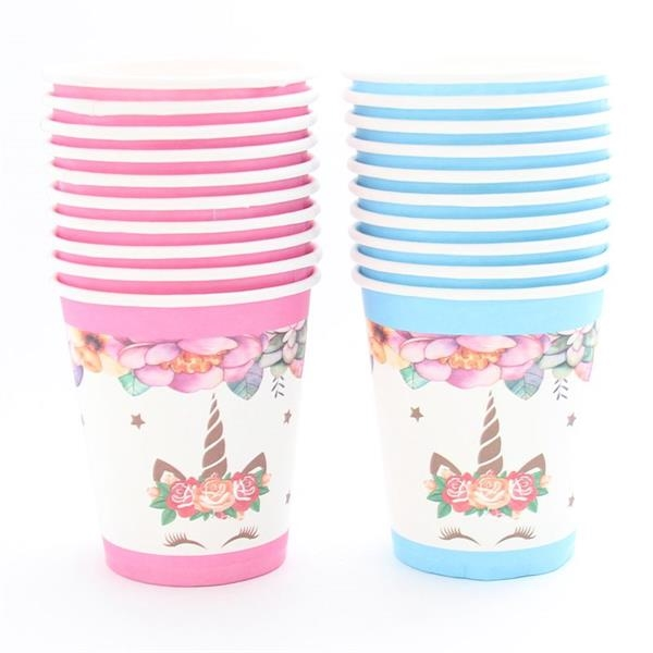 Wedding Birthday Paper  Cups for Kids Girls Boys