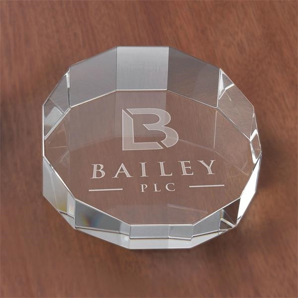 Slanted Circle Paperweight