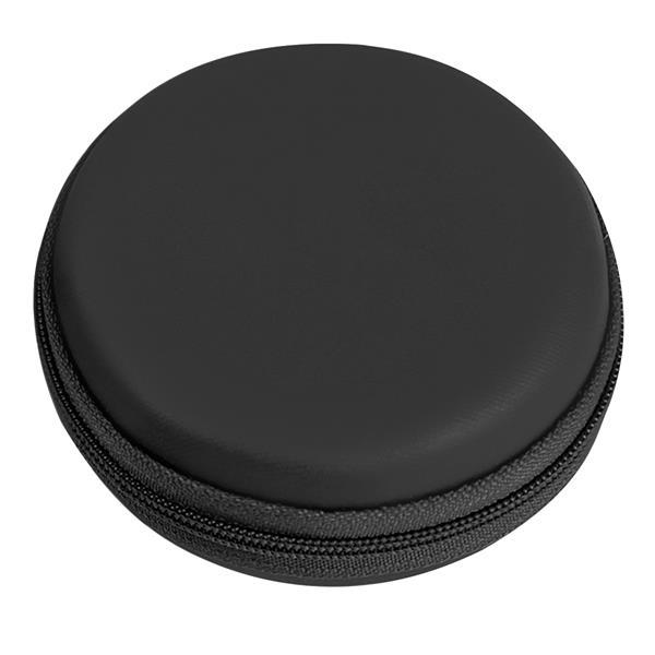 Round Zippered Electronics Travel Case