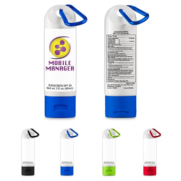 2 oz. Sunscreen w/ Carabiner - SPF 30