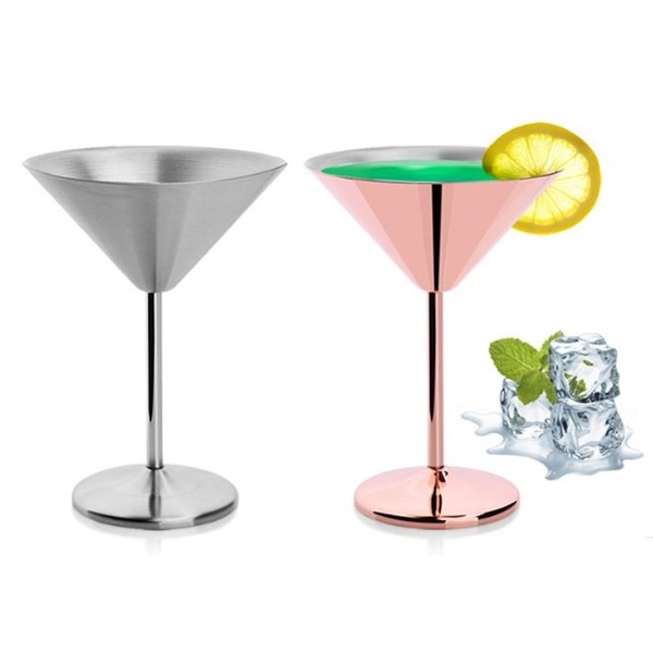7 oz. Stainless Steel Bar Party Goblet Mojito Cocktail