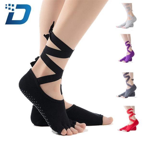 Cotton Yoga Socks With Straps