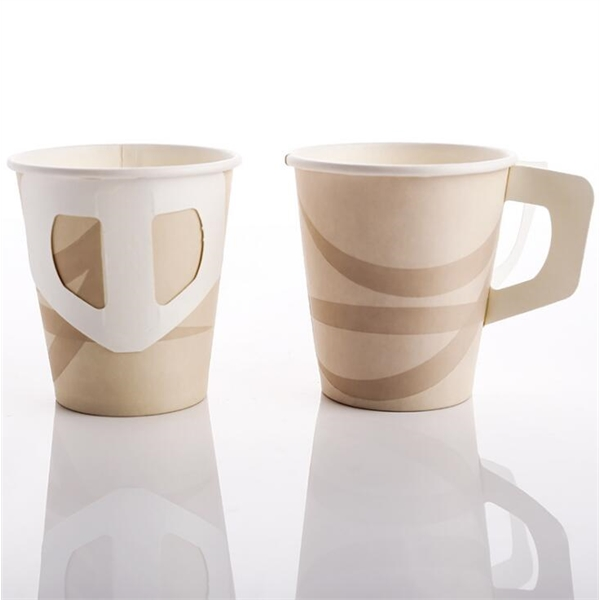 Paper cups with hand