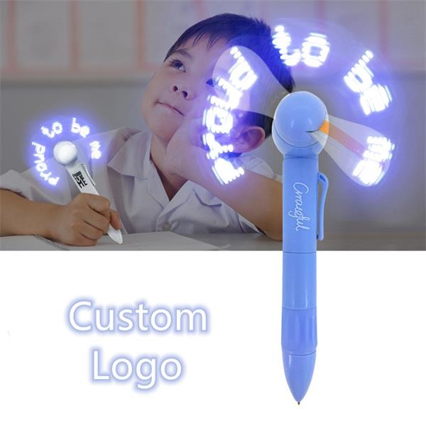 LED Flashing Fan Pen