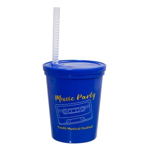 16 OZ. LITTLE SIPS STADIUM CUP WITH STRA