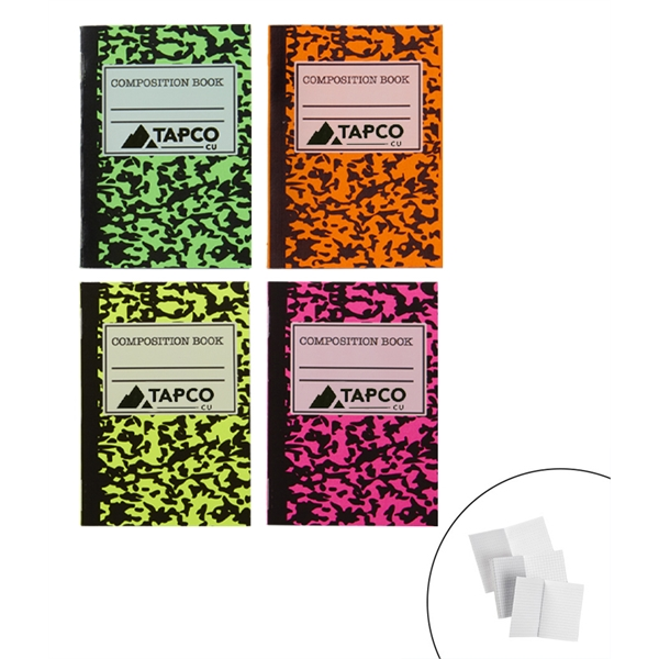Mini Neon Composition Notebook