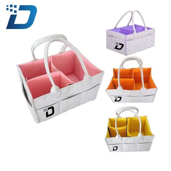 Foldable Felt Storage Basket Collector/Organizer w/Handle