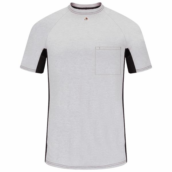 Bulwark Men's FR Short Sleeve Two-Tone Base Layer w/ Pocket