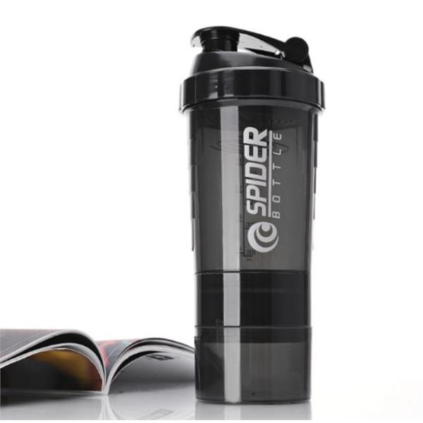 16 oz 3-layer Protein Shaker Bottle Water Bottle