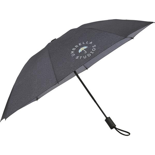 """46"""" Heathered Auto Open/Close Inversion Umbrella"""