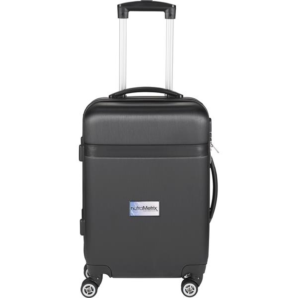 "Two Tone Hardside Brushed Metallic 19"" Luggage"