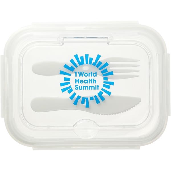 1000ML Glass Food Storage with Utensils