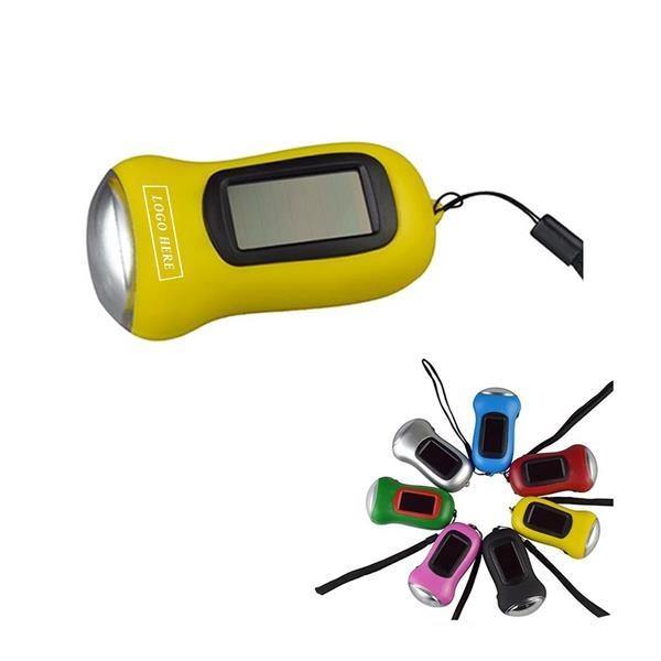 Mini Portable Hand-cranked Dynamo 3 LED Solar Flashlight