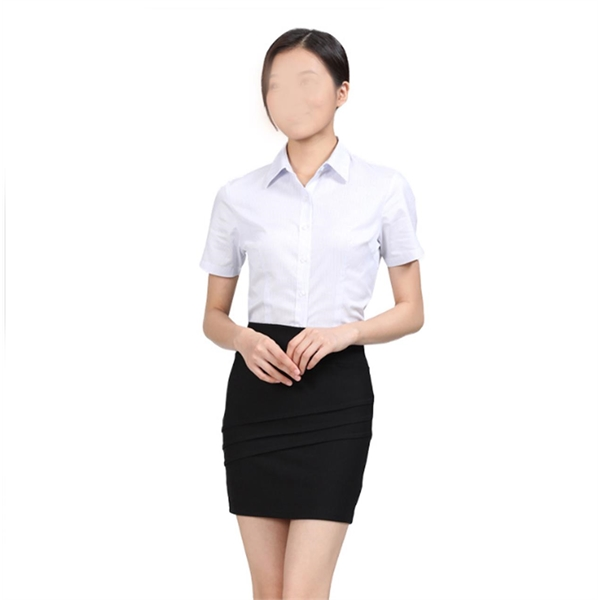 Business Women Short Sleeve Shirt Custom
