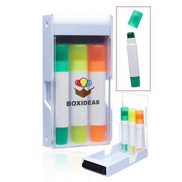 Boxi Gel Highlighters Set Including Screen Cleaner