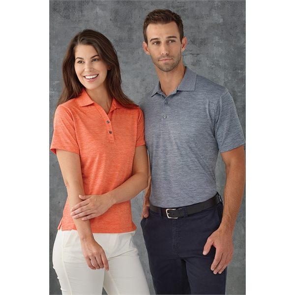 Lady Dakota Striated Heather Polo
