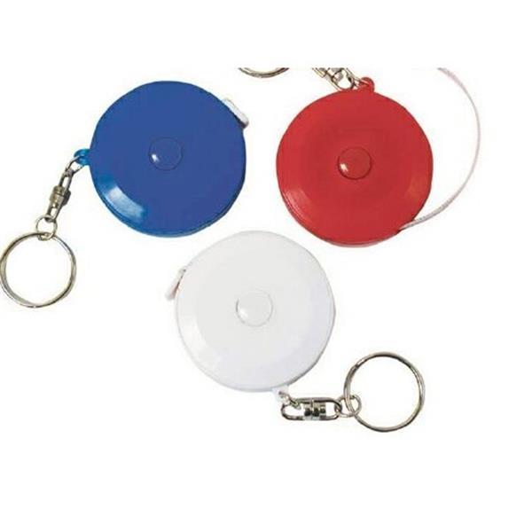 Round Tape Measure W/Key Ring