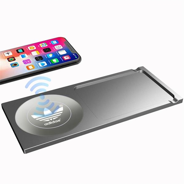 Wireless Charging Station With Desktop Finishing System