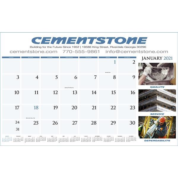 Custom Full Color Desk Pad Calendar