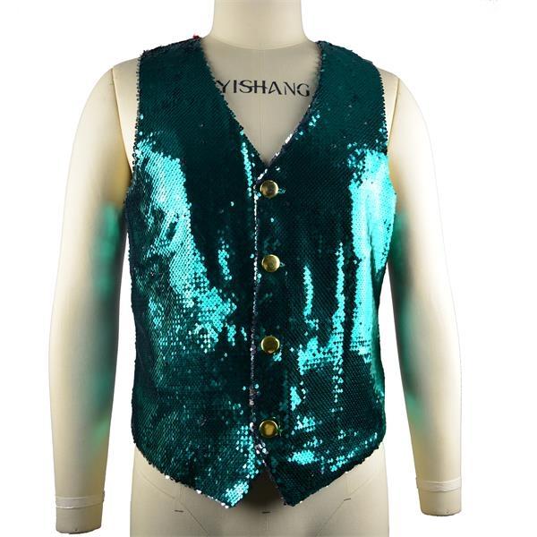 Sequined Shirt Vest