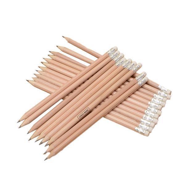 log wooden pencil With Eraser