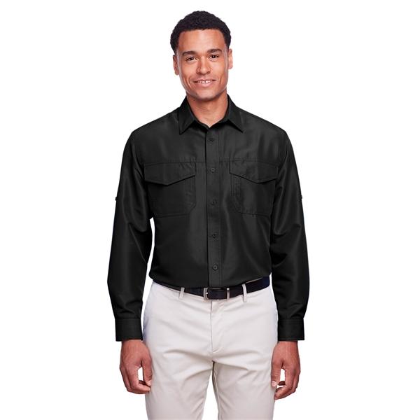 Harriton Men's Key West Long-Sleeve Performance Staff Shirt