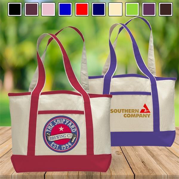 Premium Shopping Tote Bag w/ Zipped Clos
