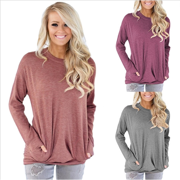 Long-sleeved T-shirts With Pockets