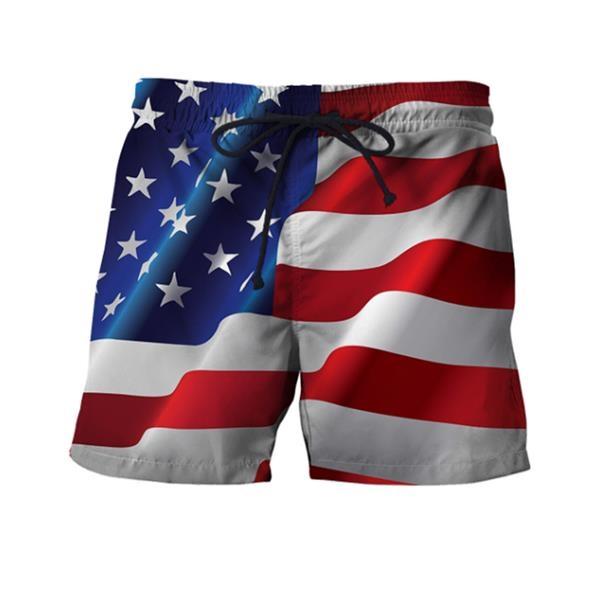 Men Flag Beach Shorts