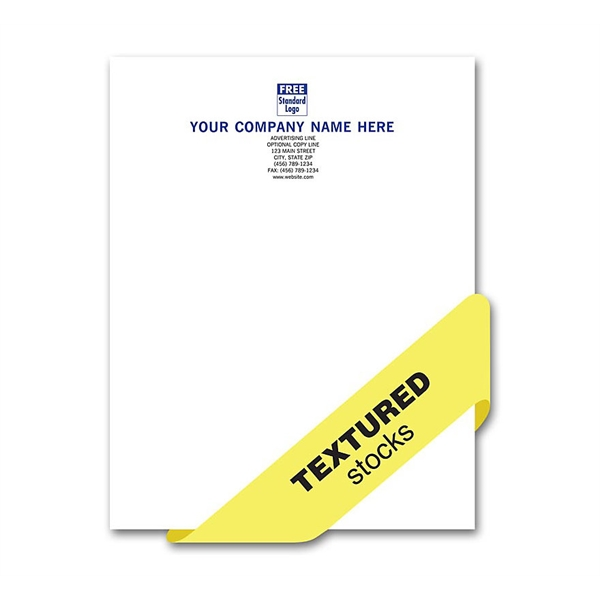 Letterhead, Preferred, 1 Or 2 Ink Colors, Textured Stocks