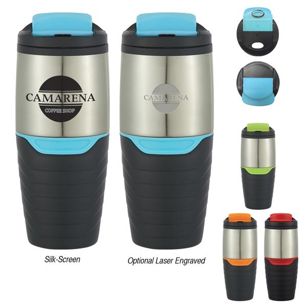 16 oz. Stainless Steel Tumbler with Flip