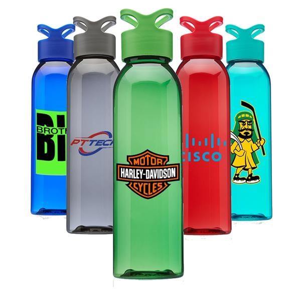 Gym Water Bottles w/ Carrying Loop 22 oz. Sports Bottle