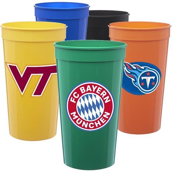 Large Plastic Stadium Cup w/ Custom Imprint 32 oz. Mug