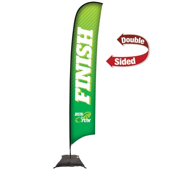 17' Premium Razor Sail Sign, 2-Sided, Scissor Base