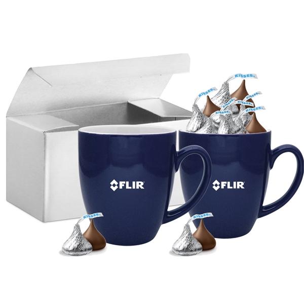 Double Mug Gift Box with Hershey Kisses